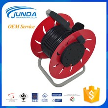 Made in china hot sale low cost industrial retractable power plug extension empty plastic cable reel