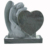 European Style Double Heart Gtanite monument