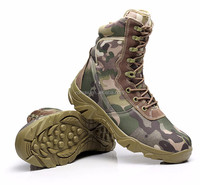 new durable waterproof camouflage tactical military boots