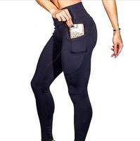 Womens Athletic Apparel Factory Direct Supply High Waist Tight Yoga Pants with Pocket