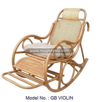 Indoor Rattan Rocking Chair, Antique Rattan Cheap Living Room Rocker Rocking Chair, Classic Living Room Furniture