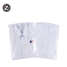 Resealable custom polybag packaging clear plastic zipper bags for clothing