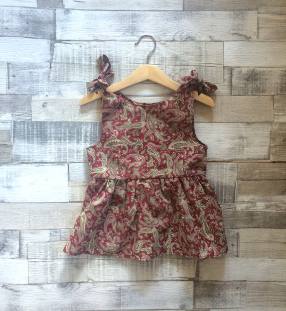Paisley Print Sundress Floral Printed Dresses Baby Girl Clothing High Quality