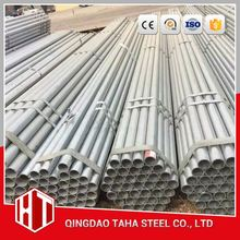 threaded galvanized round steel pipe 1 1/4 inch