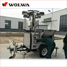 hydraulic mast mobile light tower with diesel engine