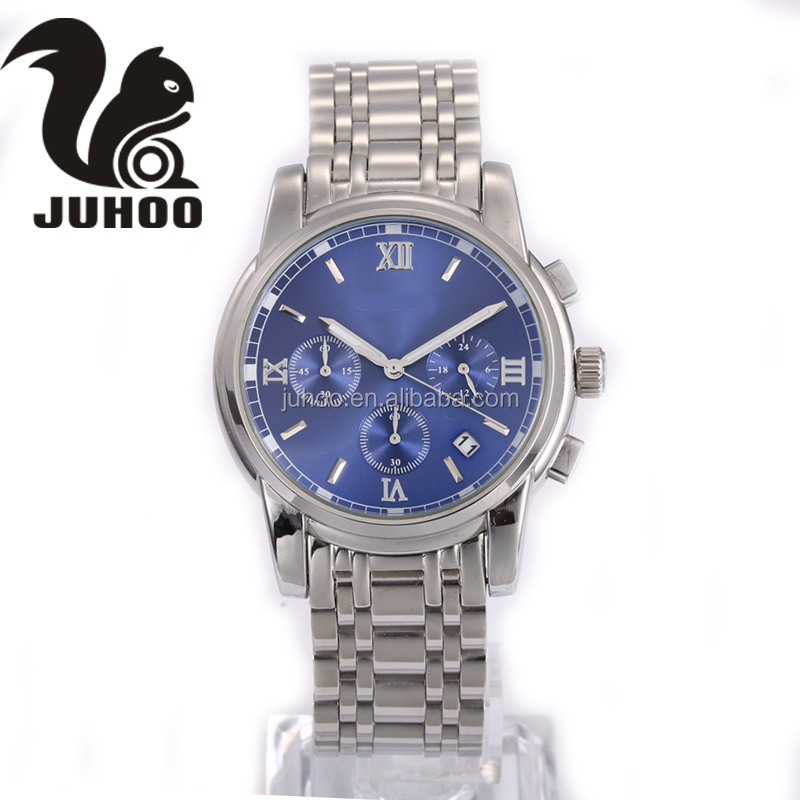 Luxury design stylish mens stainless steel watch multifunction watch
