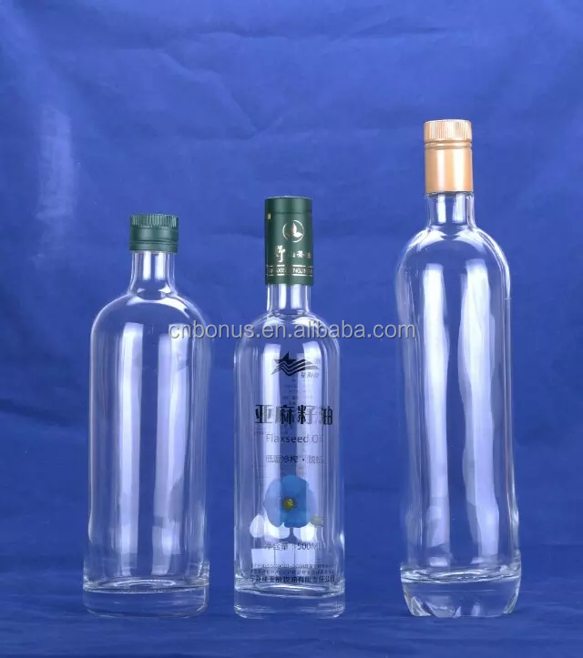 boston round clear glass wine bottle 500ml 700ml 750ml