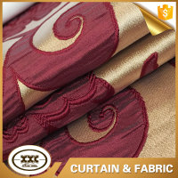 New design wholesale polyester fashion jacquard curtain fabrics