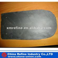 Natural round side black roofing slate