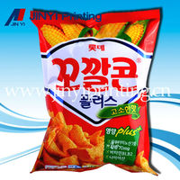 Metallized film laminated food packaging for corn chips