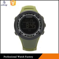Fancy Army Green New Silicone Sport Watches Mirror Led Watch Hot