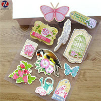 butterfly handmade 3D sticker