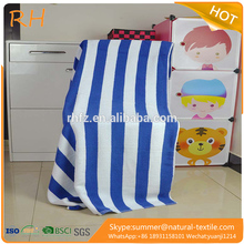 professional manufacturer custom 100% cotton white and blue striped beach pool towel fo100% cotton large pool towel stripe towel