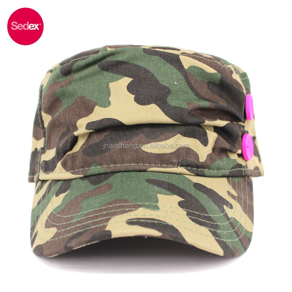 SEDEX 4-Pillar digital camo army hats ladies style military hats