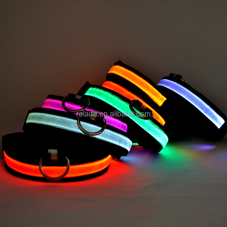 HOT!! Cheap pets product Flash USB Rechargeable waterproof LED flashing Collar for dog safety lights