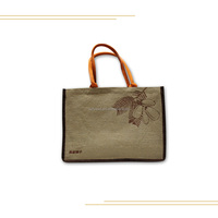Silk Screen Printing Jute Shopping Bag,Burlap Promotion Tote Bag,Linen Gunny AD Gift Shopping Bag