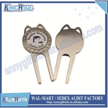 Metal Golf Divot Repair Tool with Ball Marker