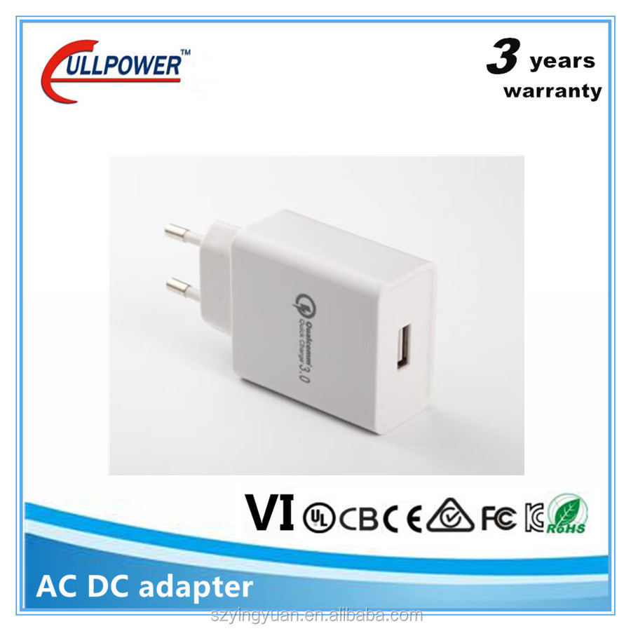 Universal UL CE Rohs qualcomm qc 2.0 3.0 qi charger fast charger