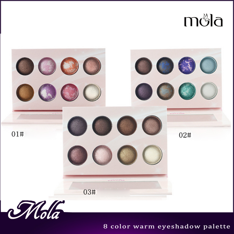 Paper material Makeup palette with mirror high quality 8 color palette flower shape eyeshadow