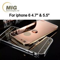 Ultra thin metal aluminum hard shell rose pink gold golden cell phone case cover for iphone 5 6 6s plus and samsung s3 s4 s5 s6