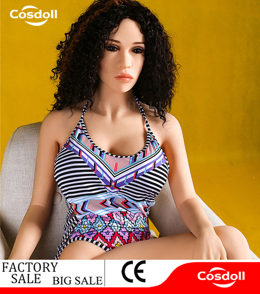 New big breast lifelike silicone 140cm sex doll with skeleton 3 <strong>holes</strong>