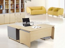executive wood small office desk size