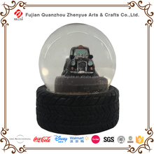 Customized resin car model glass snow globe