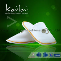 high quality customized hotel slipper manufacturer/hotel man shoes/spa slipper