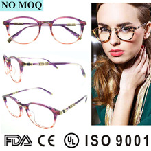 2017 Latest Trendy Acetate Spectacles Frames For Women With CE Provided