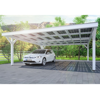 Durable easy installation aluminum huge solar car parking lot shelter shed canopy outdoor carport