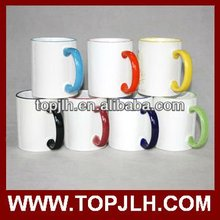 sublimation raw material coated colorful cup