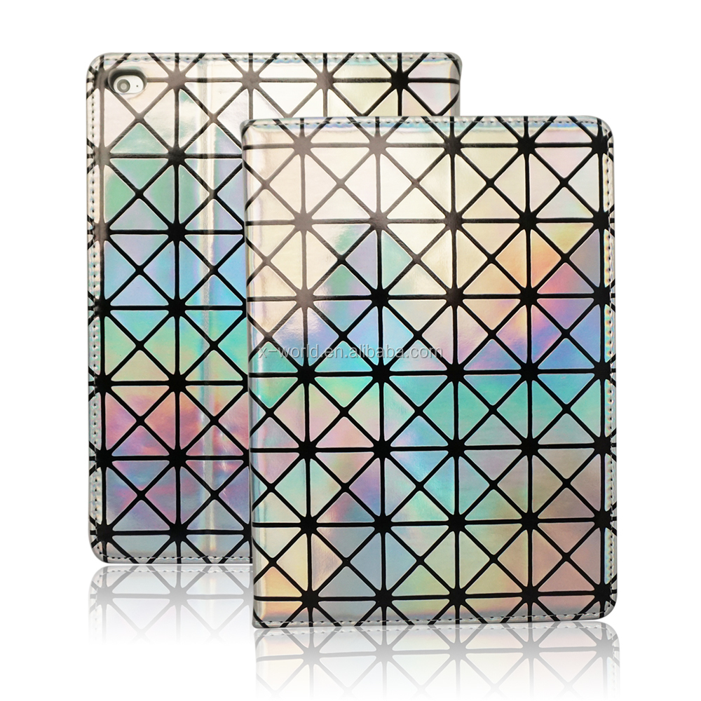 "Bling Laser Color Leather Case for iPad Pro 9.7"" with Stand"