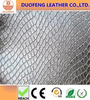 Embossed pattern metallic leather PU/PVC