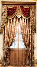 Gorgeous Chenille Window Curtain for Living Room, Gold Luxury Elegant Window Drape Curtain
