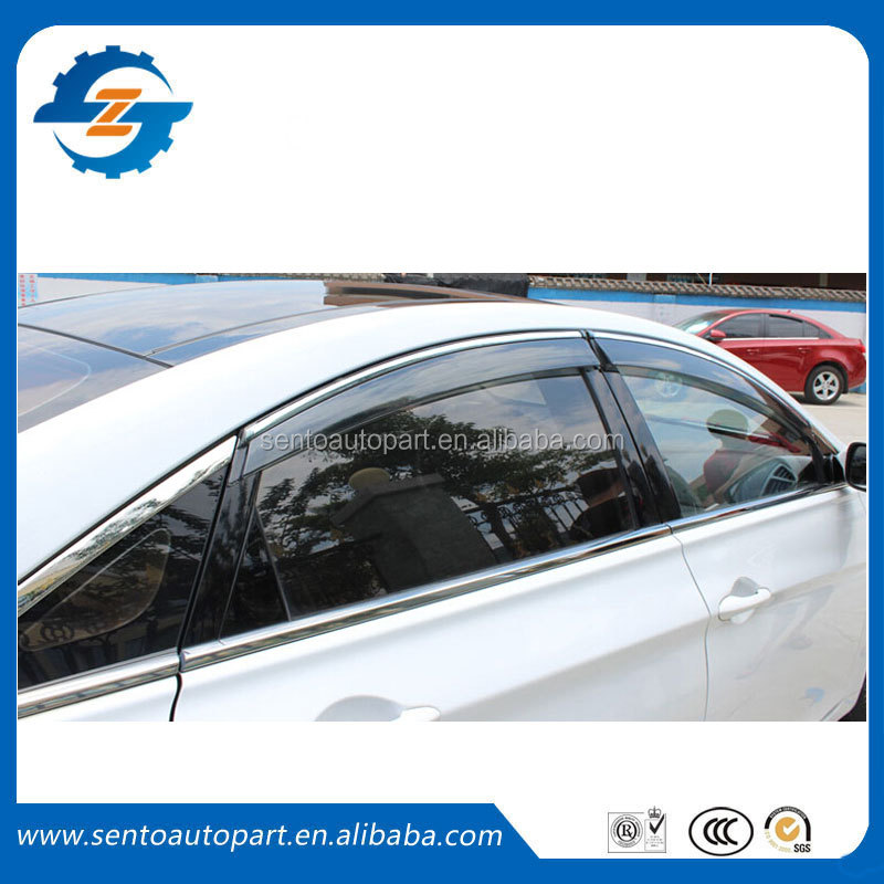 Good quality 4 pcs window visor/vent shade/rain sun wind deflector Fit for Hyundai Accent