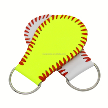 Genuine Leather Keychain Baseball and Softball Buckle Durable Key Chain wholesale