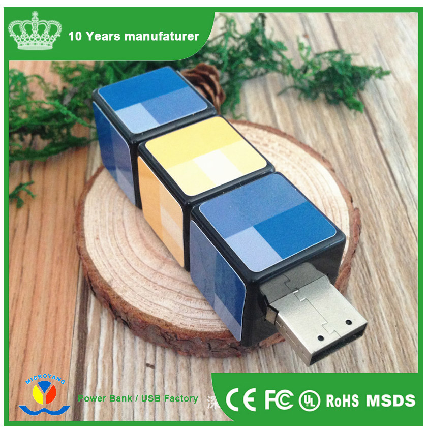Promotion Puzzle Cube Shape Rotate USB Flash Drive Disk
