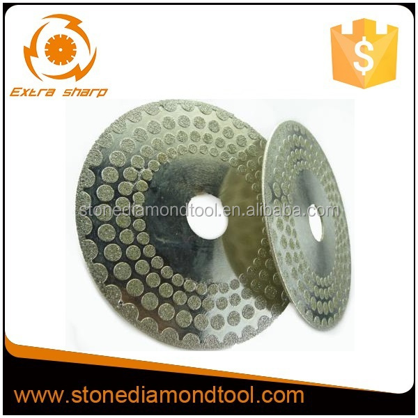 Dots surface electroplated diamond saw blade for glass and tile cutting