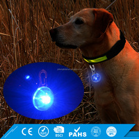 Clip On Dog Collar or Key Ring Waterproof Flashing LED Dog Safety Light