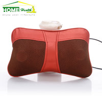 High grade PU leather and mesh fabric shiatsu neck massage pillow