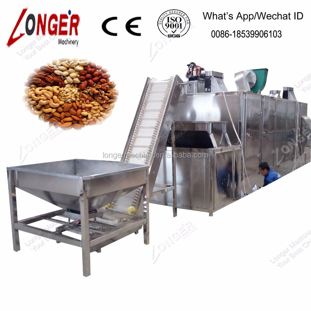 Continuous Automatic Nuts Roasting Machine Roster/Peanut Roasting Machine