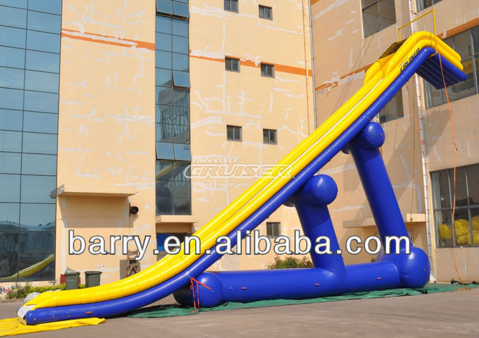 2013 New design giant Inflatable slide for yacht and boat