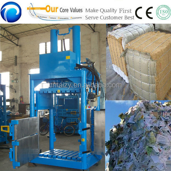 Small waste paper bailing machine,waste paper baling press machine