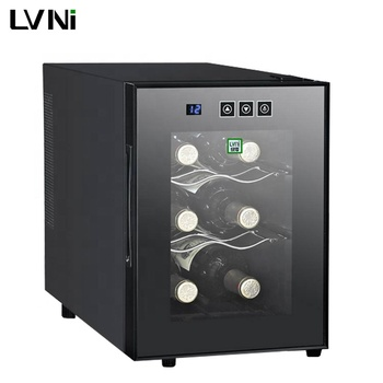 LVNI household 6 bottles portable electronic semiconductor thermoelectric mini red wine cooler fridge refrigerator chiller dubai