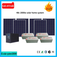 Top selling home solar installation cost 2000w solar power system home