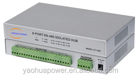 Industrial grade 8-port RS-232/485/422 terminal server, in binding post, PhotoElectric isolation