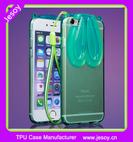 JESOY Crystal Clear Transparent Soft Silicon Rabbit Ear TPU Case Cover For iPhone 6 4.7inch