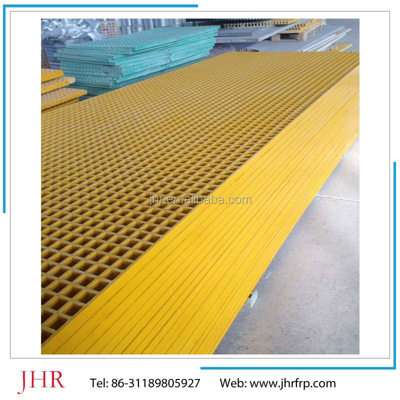 Yellow color decking FRP grid