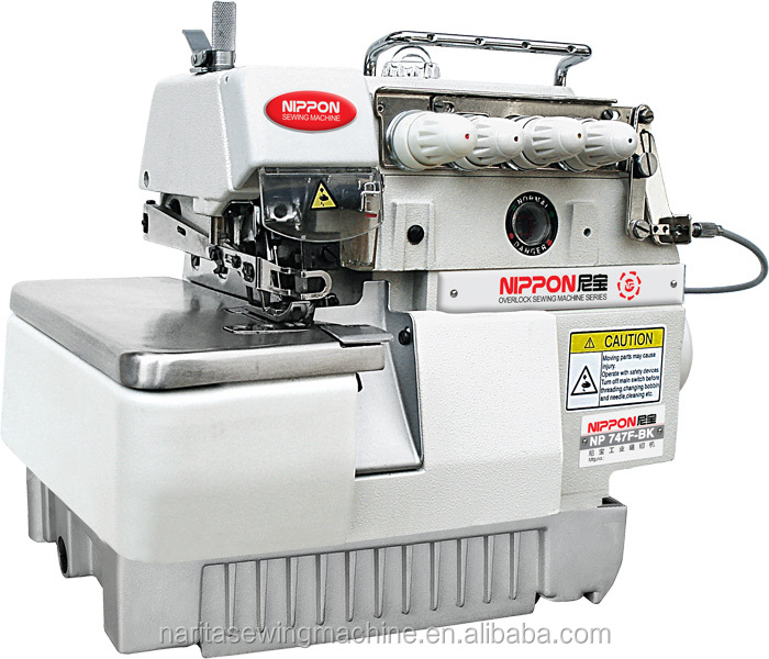 NP 747F-BK Super high speed four thread back latching overlock sewing machine