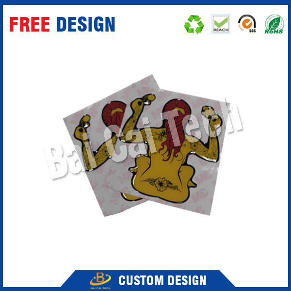 China wholesale durable waterproof clear custom CMYK printing dome sticker